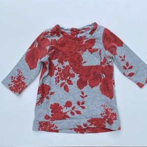 GAP Floral sweatshirt baby dress